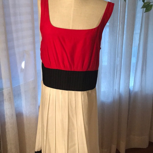 Anne Klein Dresses & Skirts - Beautiful red black and white Dress